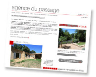 Site de l'agence immobili�re du passage � Uz�s